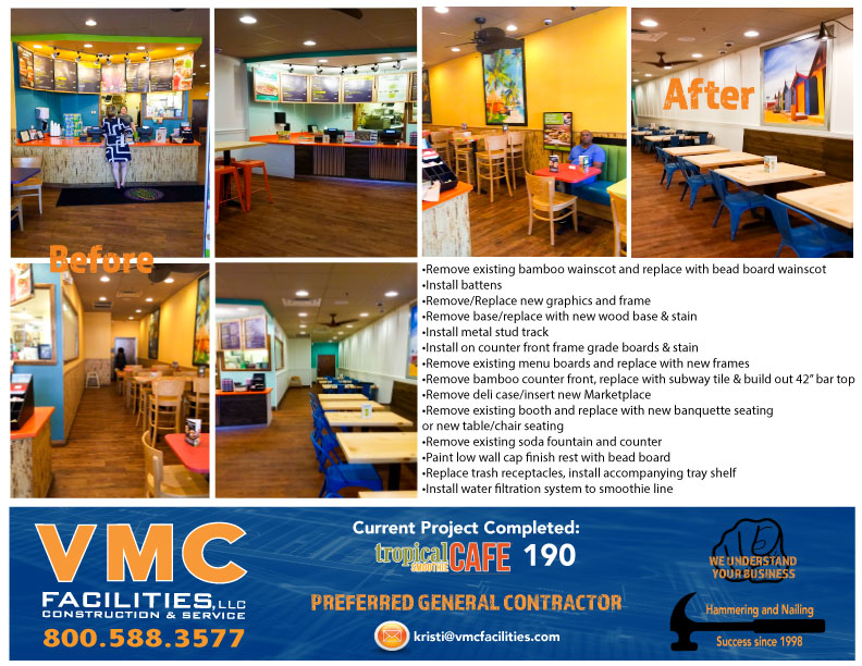 Tropical Smoothie 190 Restaurant Refresh -Completed